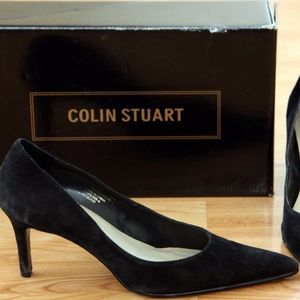 Colin Stuart (Victoria's Secret) Black Suede Pumps